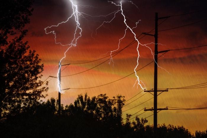 Daños electricos por alta tension