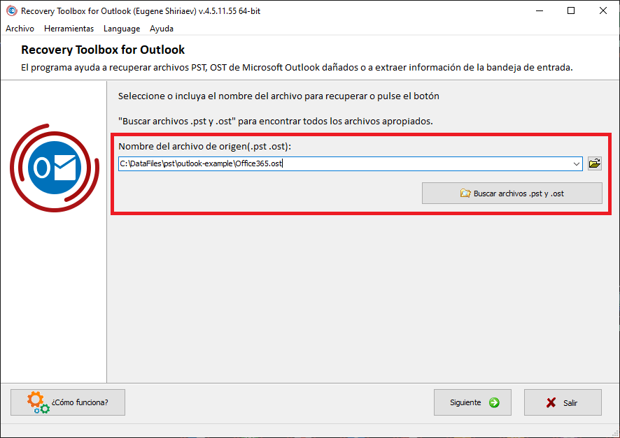 Recovery Toolbox for Outlook para reparar PST