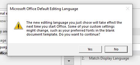 confirmar cambio de idioma en powerpoint